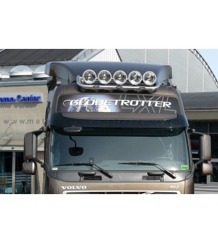 VOLVO FM 14+ ROOF LAMP HOLDER LED CROSSTOP - Globetrotter roof - 868159 - Roofbar / Roofrails - Verstralershop