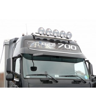 VOLVO FMX 10+ ROOF LAMP HOLDER LED CROSSTOP - Globetrotter roof - 868159 - Roofbar / Roofrails - Metec Truck - Verstralershop