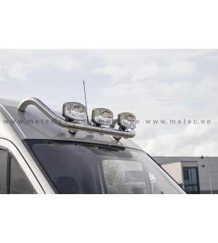 VW CRAFTER 07+ LAMP HOLDER for roof H2+ 2x lamp fixings cable pcs - 888495 - Roofbar / Roofrails - Metec Van
