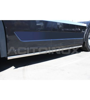 Volvo FH4 - SIDE PROTECTION BAR LEFT SIDE - 022VSXFH2013 - Sidebar / Sidestep - Acitoinox - Italian series