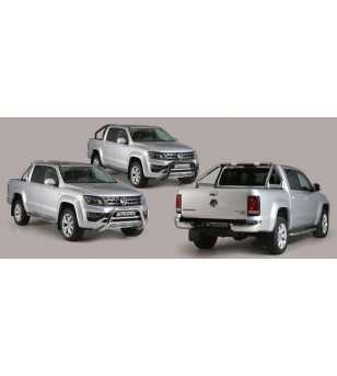 VW Amarok 16+ Design Side Protections Inox