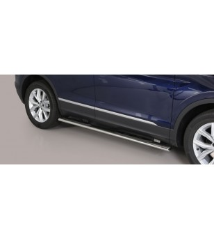 Tiguan 16- Oval Grand Pedana (Oval Side Bars with steps) Inox - GPO/409/IX - Sidebar / Sidestep - Unspecified