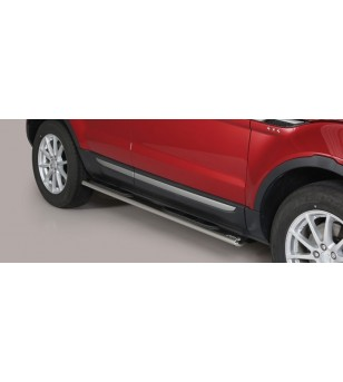Evoque 2016 Oval Grand Pedana (Oval Side bars with steps) Inox(also available in black) - GPO/306/IX - Sidebar / Sidestep - Unsp