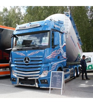 MB ACTROS 2011 - 2,5m wide cabin - Frontbar Style V3 - 1012000 - Bullbar / Lightbar / Bumperbar - RST-Steel - Frontbar Style