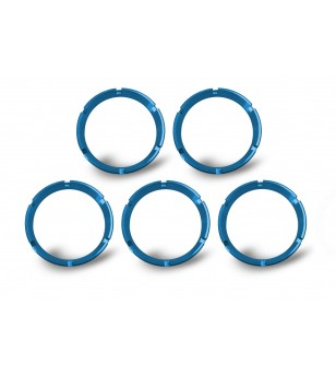 BLUE BEZEL RINGS FOR KC FLEX™ LED LIGHTS (5 PACK)