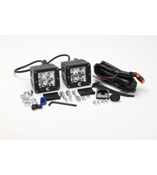 KC 3'' C-SERIES C3 LED PAIR PACK SYSTEM AMBER SPOT