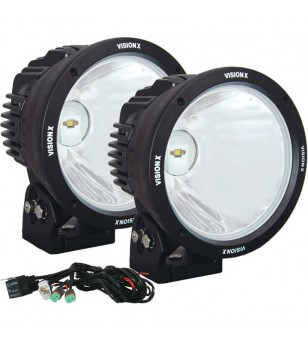 8.7 inch CANNON BLACK 1 90W LED 10degr NARROW LIGHT KIT9-32V DC KIT - CTL-CPZ810KIT - Lighting - Vision X Light Cannon