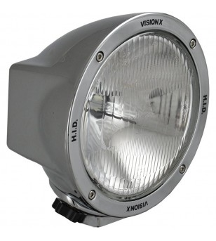 6.7 inch ROUND CHROME 35 WATT HID FLOOD LAMP 9-32V DC EA - HID-6501C - Lighting - Vision X HID