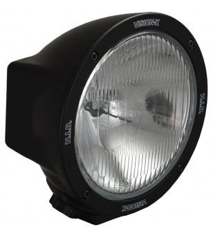 6.7 inch ROUND BLACK 50 WATT HID FLOOD LAMP 9-32V DC EA - HID-6551 - Lighting - Vision X HID