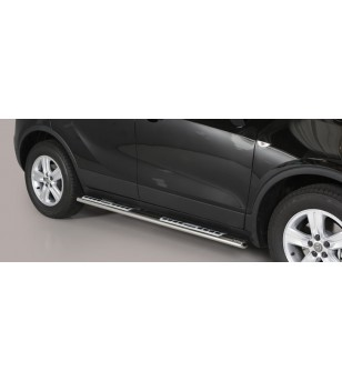 Opel Mokka X 2016- Design Side Protection Oval - DSP/318/IX - Sidebar / Sidestep - Verstralershop