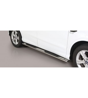 Kuga 17- Oval grand Pedana (Oval Side Bars with steps) Inox - GPO/420/IX - Sidebar / Sidestep - Unspecified