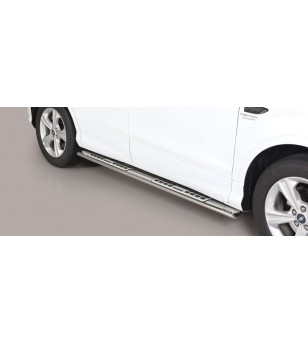 Kuga 17- Oval Design Side Protections Inox - DSP/420/IX - Sidebar / Sidestep - Unspecified