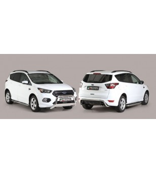 Kuga 17- Oval Design Side Protections Inox