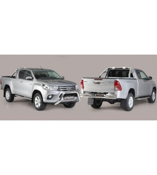 TOYOTA HILUX 16+ Oval grand Pedana (Oval Side Bars with steps) Inox - Extra Cab