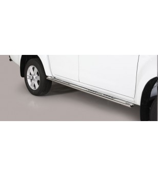 D-Max 17- Double Cab Design Side Protection Oval - DSP/314/IX - Sidebar / Sidestep - Unspecified
