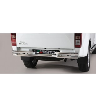 D-Max 17- Double Bended Rear Protection - DBR/314/IX - Rearbar / Rearstep - Unspecified