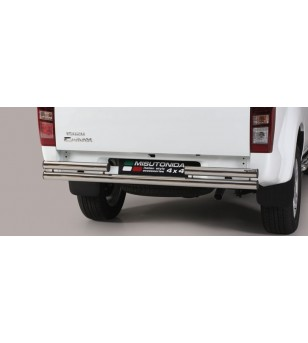 D-Max 17- Double Rear Protection - 2PP/314/IX - Rearbar / Rearstep - Unspecified