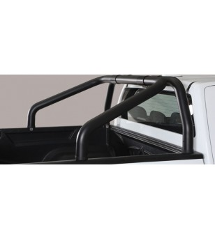 D-Max 17- Roll Bar on Tonneau - 2 pipes Black Coated - RLSS/2314/PL - Rollbars / Sportsbars - Unspecified
