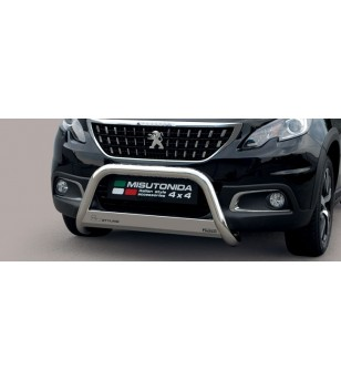 Peugeot 2008 2016- EC Approved Medium Bar Inox - EC/MED/427/IX - Bullbar / Lightbar / Bumperbar - Unspecified - Verstralershop