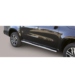 X-Class 17- Oval Design Side Protections Inox - DSP/428/IX - Sidebar / Sidestep - Unspecified