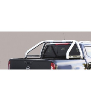 X-Class 17- Roll Bar Mark on Tonneau Black Coated Inox (2 pipes version) - RLSS/K/2428/IX - Rollbars / Sportsbars - Verstralersh