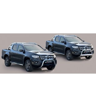 X-Class 17- Roll Bar Mark on Tonneau Black Coated Inox (2 pipes version)