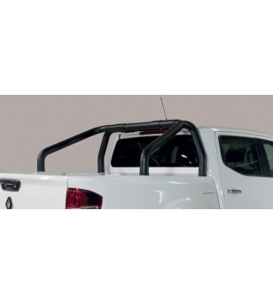 Alaskan D.C. 18- Roll Bar on Tonneau Inox Black Coated (2 pipes version) - RLSS/2432/PL - Rollbars / Sportsbars - Unspecified