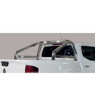 Alaskan D.C. 18- Roll Bar Mark on Tonneau Black Coated Inox (2 pipes version) - RLSS/K/2432/IX - Rollbars / Sportsbars - Verstra
