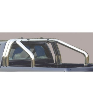 Alaskan D.C. 18- Roll Bar on Tonneau Inox (3 pipes version) - RLSS/3432/IX - Rollbars / Sportsbars - Verstralershop