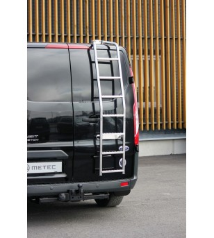 FORD TRANSIT CUSTOM 13+ Rear ladder - 807065 - Rearbar / Opstap - Metec Van
