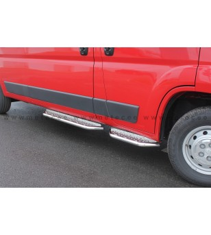 FIAT DUCATO 07+ RUNNING BOARDS VAN TOUR front door pcs