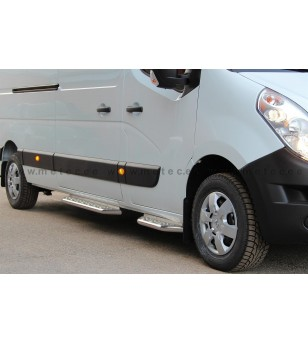 OPEL MOVANO 10+ RUNNING BOARDS VAN TOUR front door pcs - 888600MM - Sidebar / Sidestep - Metec Van