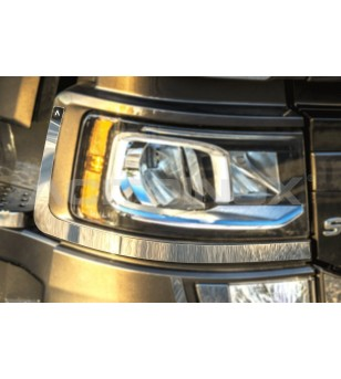 SCANIA R/S Serie 16+ HEADLIGHT COVER - AP012SNS - Stainless / Chrome accessories - Acitoinox - Italian series