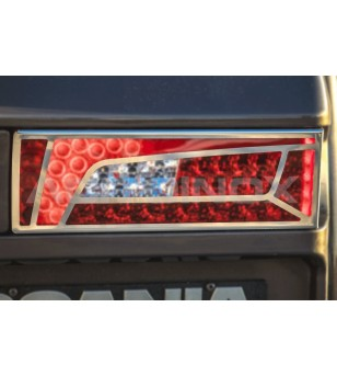 SCANIA R/S Serie 16+ BRAKE LIGHTS COVER - AP016SNS - Stainless / Chrome accessories - Acitoinox - Italian series - Verstralersho