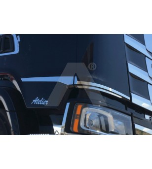SCANIA R/S Serie 16+ CABIN SIDE PROFILES - AP023SNS - Stainless / Chrome accessories - Acitoinox - Italian series - Verstralersh