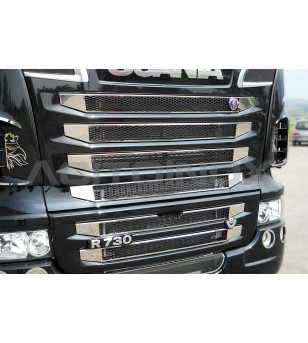 SCANIA MASK COVER KIT - SCANIA NEW R, STREAMLINE - 011SNR - Grille - Acitoinox - Italian series