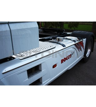 DAF XF 106 Pair Skirt Cover - 025DXF106 - Stainless / Chrome accessories - Acitoinox - Italian series