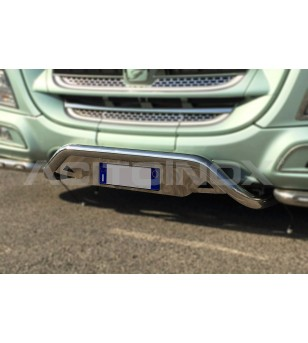 DAF XF 106 Bull bar with Licence Plate holder - 001D60XF106PL - Bullbar / Lightbar / Bumperbar - Acitoinox - Italian series