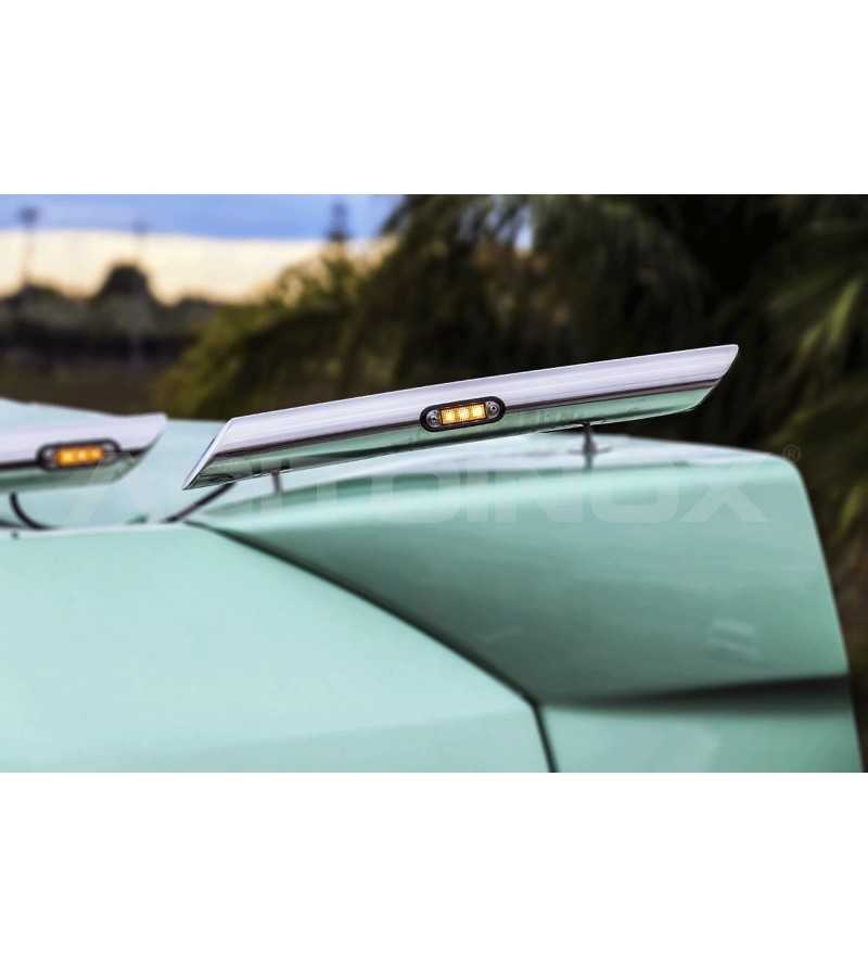 DAF XF 105, XF 106 Extentions for Roof Light Bar - Long Version - 048D - Roofbar / Roofrails - Acitoinox - Italian series - Vers