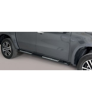 X-Class 17- Oval Design Side Protections Inox Black Coated - DSP/428/PL - Sidebar / Sidestep - Unspecified - Verstralershop