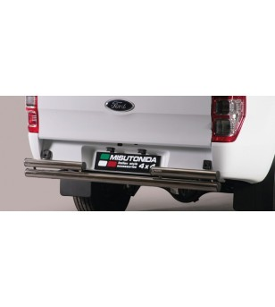 Ranger Super Cab 12- Double Rear Protection - 2PP/330/IX - Rearbar / Opstap - Unspecified