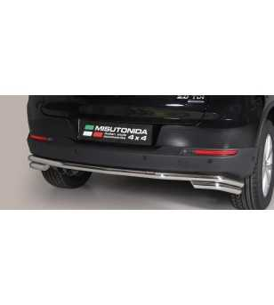 Tiguan 11-15 Double Rear Protection - DP2/355/IX - Sidebar / Sidestep - Unspecified