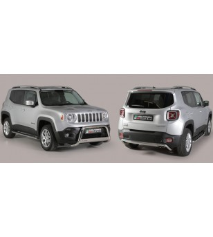 Jeep Renegade 2014- EC Approved Medium Bar Inox ø63