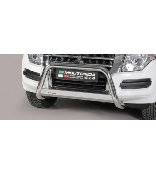 Pajero 2015- EC Approved Medium Bar Inox ø63 - EC/MED/385/IX - Bullbar / Lightbar / Bumperbar - Unspecified