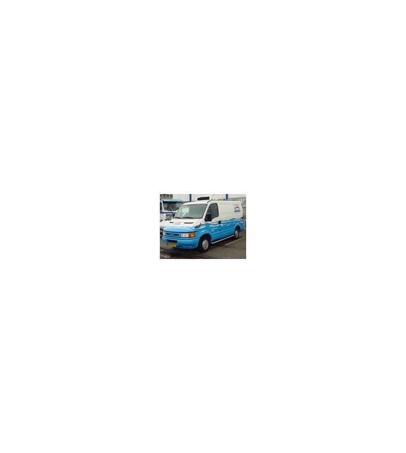 Iveco Daily Sidebar set high gloss L1 (WB 3000) 45gr bends - 020.09.01C.002 - Sidebar / Sidestep - Unspecified