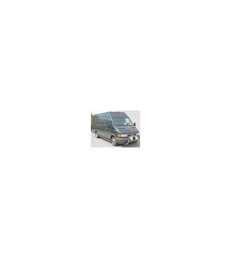 Iveco Daily Sidebar set high gloss L2 (WB 3520) 45degr bends, single air - 020.09.01C.010 - Sidebar / Sidestep - Unspecified