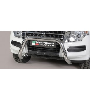 Pajero 2015- EC Approved Super Bar Inox ø76 rvs - EC/SB/385/IX - Bullbar / Lightbar / Bumperbar - Unspecified