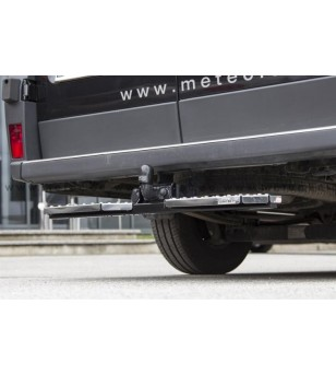 IVECO DAILY 12+ RUNNING BOARDS to tow bar pcs LARGE - 888420 - Rearbar / Rearstep - Metec Van