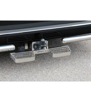 VW CADDY 04 to 15 RUNNING BOARDS to tow bar pcs SMALL - 888419 - Rearbar / Rearstep - Metec Van - Verstralershop
