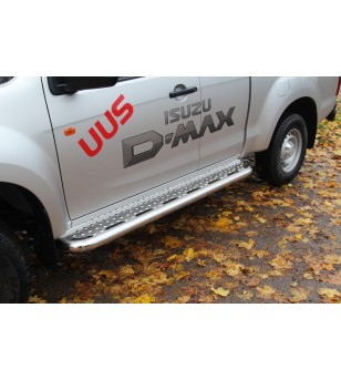 ISUZU D-MAX 17+ RUNNING BOARDS TOUR Crew + Space pair - 813110 - Sidebar / Sidestep - Metec Car/SUV
